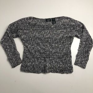 Harley Davidson Cropped Sweater Gray Small
